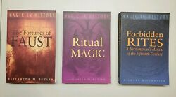 Elizabeth Butler~Fortunes Faust~Ritual Magic~Forbidden Rites~3 Book Lot~History