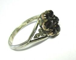 800 Silver and Garnet Vintage Ring 1.9 grams size 7 lot 29q3 $54.40