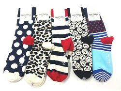 Authentic Happy Socks Assorted Patterns Unisex 5 Pair Size 9 11 NWT Fun Novelty $19.95