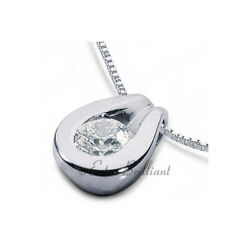 0.98ct DVS1 Round Cut Earth Mined Certified Diamond Platinum Solitaire Pendant