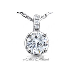 2.61ct GSI1 Round Earth Mined Certified Diamonds 18k White Gold Classic Pendant