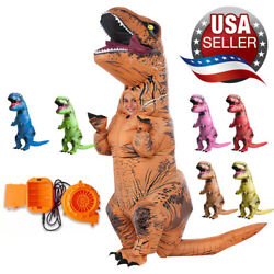 Dinosaur Costume T-REX Inflatable Jurassic Blow Adults Cosplay Christmas Suit US