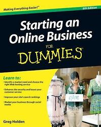 Starting an Online Business For Dummies Holden Greg Paperback Used Good $6.40