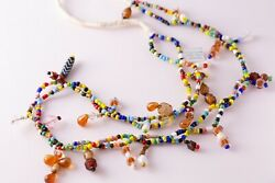 Multi Color Colorful Beaded Mali Africa African Ethnic Handmade Necklace
