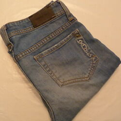 "Genetic Denim Low Rise Distressed The Liam Stretch Jeans sz 27 (31 x 34"" inseam)"