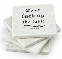 Marble Coasters For Drinks - Funny Housewarming Gifts Wedding Gift Or For Your K