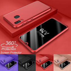 For Samsung Galaxy A10e A20 360° Shockproof Case + Screen Protector Hard Cover $5.98