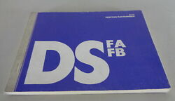 Operating Instructions Manual Citroen DS 21 Fa RC Stand 09 1969 $205.00