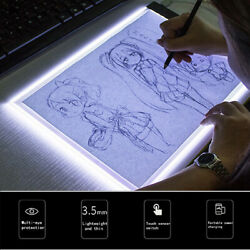 A5 LED Art Stencil Board Light Box USB Tracing Drawing Table Adjustable Pad ZP