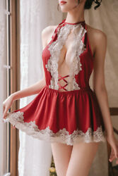 XS-S Naughty Things Sexy Lace Babydoll Sleepwear Slip Lingerie Japanese #370