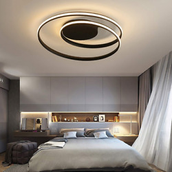 Modern Ceiling Lights LED Lamp Living Room Bedroom Dimmable Remote Control 48W $93.40
