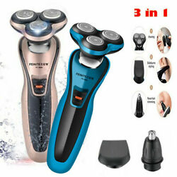 3 in 1 Rotary 3D Rechargeable Washable Men's Cordless Electric Shaver Razor #368