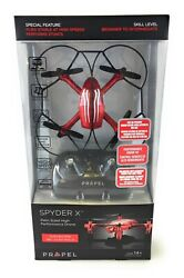Propel RC Spyder X Stunt 360 Rolls Palm Sized High Performance Drone Red New C $44.99