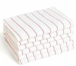 Glass Towel 24 Pcs Tea Towel Cloth 100% Cotton Kitchen Red Stripe Dish Towel $1999.00