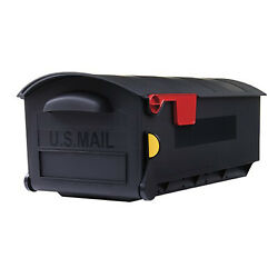 Gibraltar Mailboxes Patriot Large Rust Proof Plastic Post Mount Mailbox Black $35.79