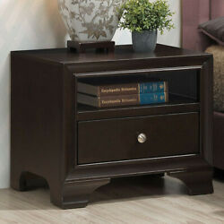 23.5quot; x 16.5quot; x 20quot; Vintage Nightstand Side End Table with USB Port and Drawer $109.95