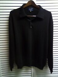 100%  FINE CASHMERE Rugby Sweater Club Room  Men's Size- XL