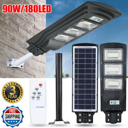 Solar LED Street Light Commercial Outdoor Area Security Road Lamp Radar Sensing $54.63