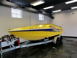 2004 Baja Outlaw 20 Mecury Cruiser V8 Yellow with Trailer Fast Boat Must See