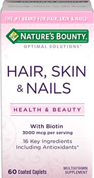Hair Skin And Nails Formula With Biotin Combines Vitamins Minerals 60 Tablet New $7.97