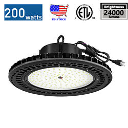 LED High Bay Light Commercial Warehouse Workshop UFO Dimmable Fixtures Lamp 200W $119.99