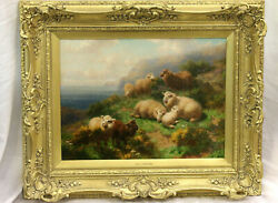 Antique Victorian Oil Painting. William RC Watson. Sheep in Scotland $2850.00