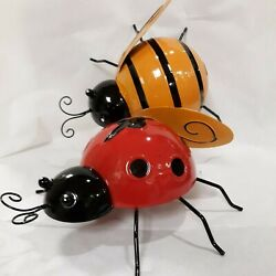 Outdoor Wall Art Set of 4 Lady Bugs or Bees $27.99