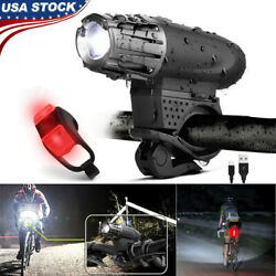 Rechargeable Bicycle Bike Headlight Rear Taillight Set USB LED Light Front Lamp $10.51