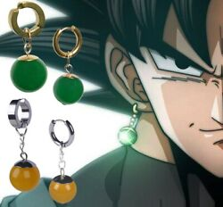 Super Dragon Ball Cosplay Earrings Vegetto Potara Black Son Goku Zamasu Ear Stud $12.99