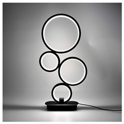 Dimmable LED Table Lamp Modern Creative Design Bedside Lighting Bedroom 4 Circle $52.92