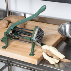 8 Wedge Green Countertop Cast Iron Potato French Fry Cutter Slicer Restaurant $65.99