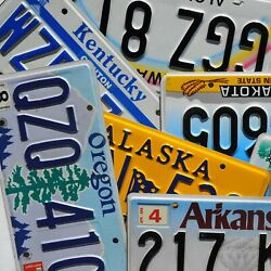 License Plate - All 50 States + Territories Countries Good License Plates Lot $2.99
