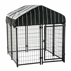 Lucky Dog 4#x27;6quot;H x 4#x27;L x 4#x27;W Welded Wire Fence Pet Kennel w Cover 5 Pack $980.99