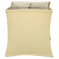 Royal Designs Square Cube Bell Basic Lamp Shade Linen Off-White