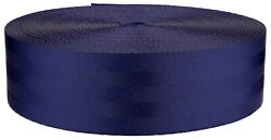2 Inch Seat-Belt Navy Blue Polyester Webbing Closeout 5 Yards $7.90