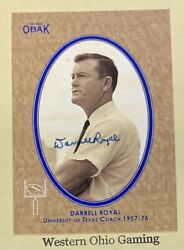 2011 Obak Darrell Royal Box Topper #T4 F6 Auto Autographed Card #4 5 MADE Texas $89.95