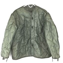 Military Coat Liner M65 Quilted Foliage Green Cold Weather Field Jacket Liner $24.99