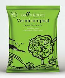 Greenroots Vermicompost Plant Manure 100% Organic Plant Nutrient for Garden 900g $34.00