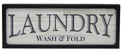 Laundry Wash amp; Fold Farmhouse Sign Shelf Sitter Rustic Wall Art Home Decor Print $14.99