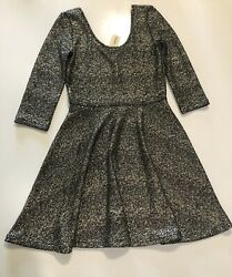 Party Dress Women#x27;s Cocktail  Size S Fit amp;Flare gold amp; black $20.99