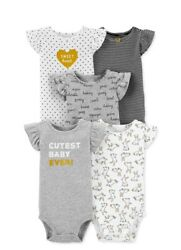 Brand new Carters 5 pack body suit set $13.00