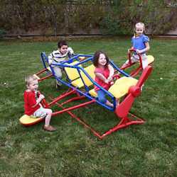 Airplane Teeter Totter See Saw Backyard Playground Equipment Toys Kids Play Gym