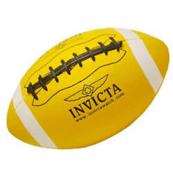 Invicta Football American Sport Yellow with Black Raised Laces IG0006 $22.05