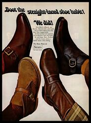 1969 Sears Roebuck and Co. The Shoe Place at Sears Boots Shoes Original Print Ad $9.95