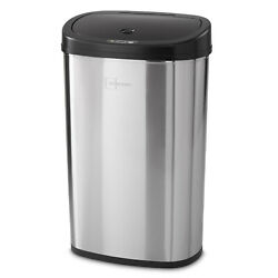 Trash Can Garbage Touchless Sensor Automatic Stainless Steel New Kitchen Waste $46.28