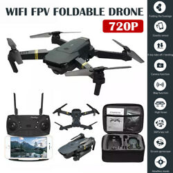 Drone X Pro Foldable Quadcopter Aircraft WIFI FPV  Wide-Angle HD Camera+Bag 720P $44.47