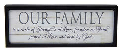 Our Family Circle of Strength Love Faith Farmhouse Sign Rustic Wall Decor Print $14.99