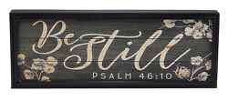 Be Still Psalm 46:10 Bible Verse Scripture Farmhouse Sign Rustic Wall Art Decor $14.99