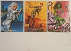 Marvel Masterpieces Silver Sable Black Widow She-Hulk Trading Cards