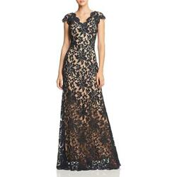 Tadashi Shoji Womens Lace V-Neck Special Occasion Evening Dress Gown BHFO 1551